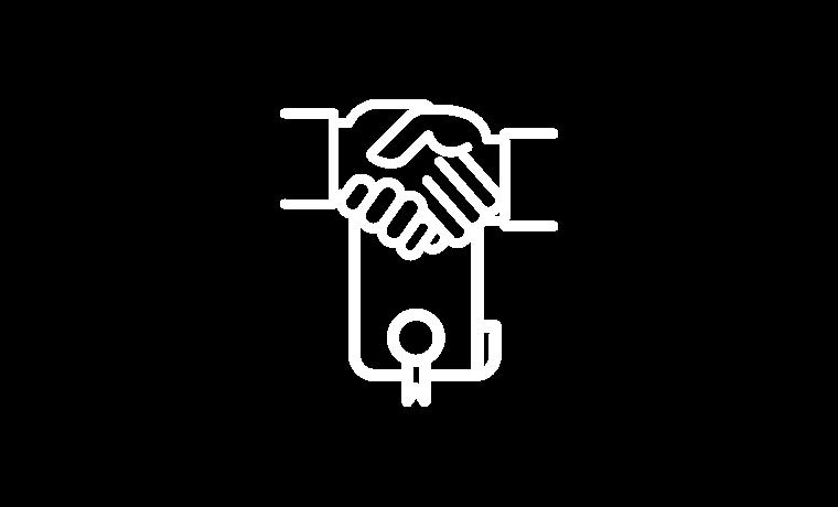 Transparentes Händeschütteln Icon